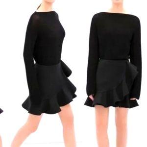 Zara size small black short ruffle skirt